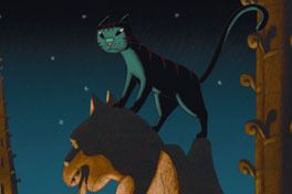 パリ猫ディノの夜の画像
