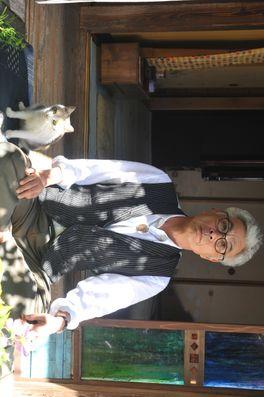先生と迷い猫の画像