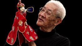 台湾、街かどの人形劇の画像