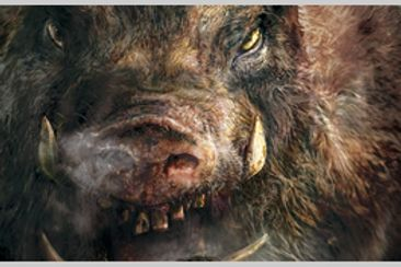 人喰猪、公民館襲撃す