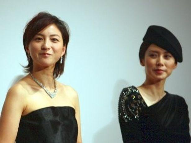 広末涼子(左)、中谷美紀は本作への満足度の高さを語った