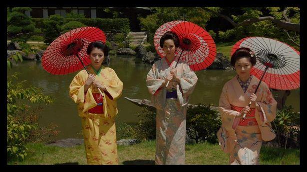 山崎紘菜(写真中央)は『この空の花 長岡花火物語』からの大林作品4本に出演