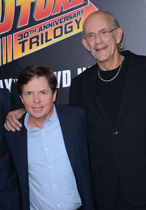 マイケル・J・フォックス(写真左)と、『バック・トゥ・ザ・フューチャー』ドク役のクリストファー・ロイド(同右)