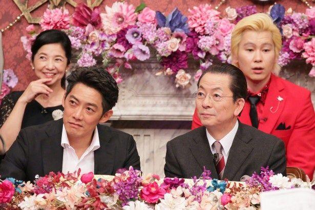 水谷豊(前列右)、反町隆史(前列左)が「Qさま!!」のスタジオに降臨!