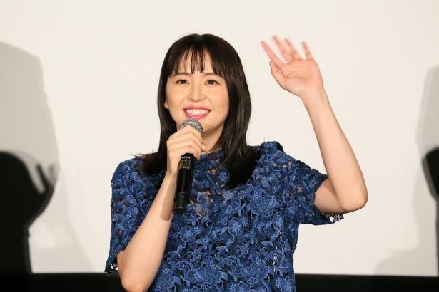 『コンフィデンスマンJP プリンセス編』の初日舞台挨拶に登壇した長澤まさみ