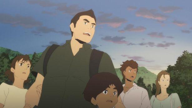 歩の父親で家族を含むグループを率いる航⼀郎