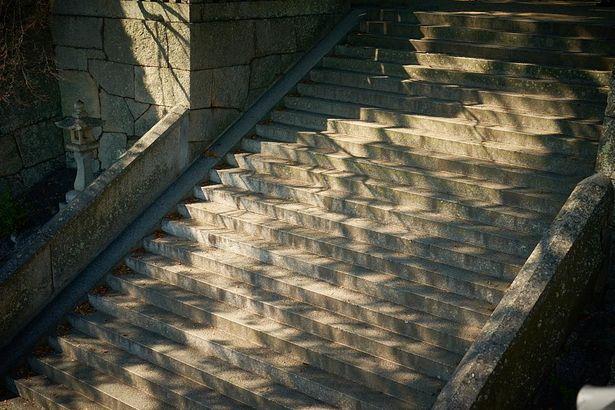 あの階段と対面!