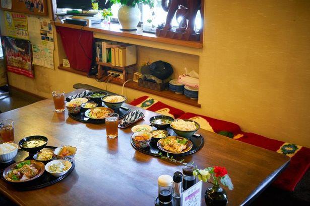 野菜を中心としたヘルシーな定食