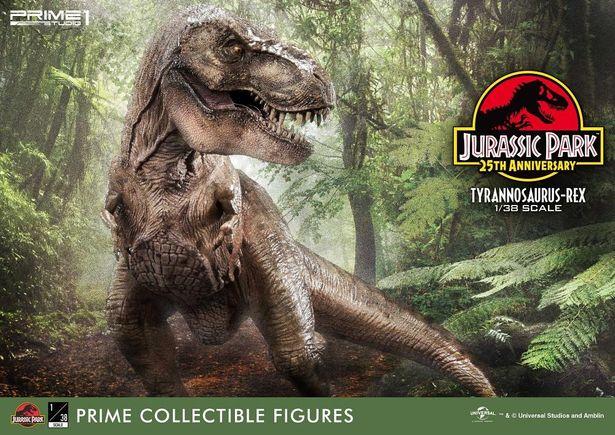 恐竜たちのフィギュアをチェック!(「プライムコレクタブルフィギュア ジュラシック・パーク ティラノサウルス・レックス」)