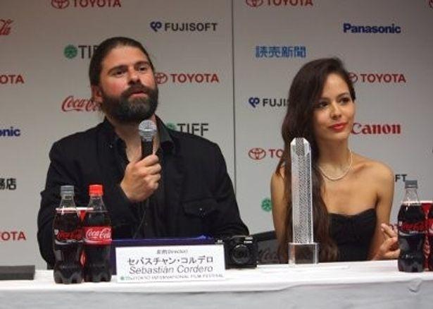 『激情』のセバスチャン・コルデロ監督と女優のマルチナ・ガルシア