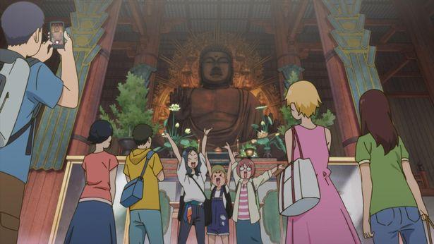 どれみたちも訪れた東大寺南大門で記念撮影