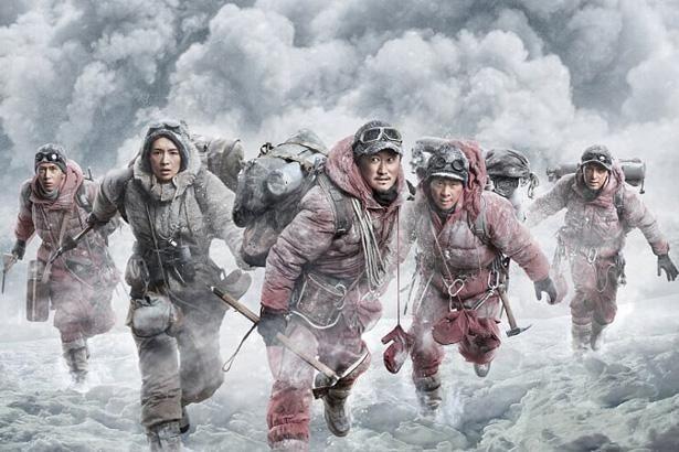 撮影は実際にエベレストで行われた(『クライマーズ』)