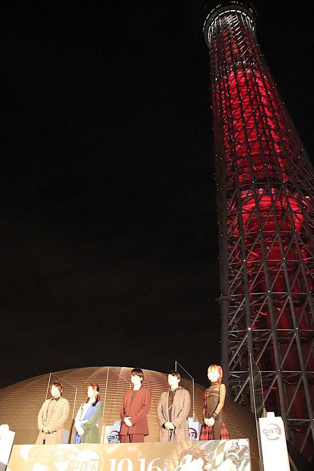東京スカイツリーの点灯式が行われた
