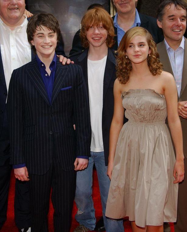 『ハリー・ポッターとアズカバンの囚人』(04)のプレミアにて、少しだけ大人に成長した3人