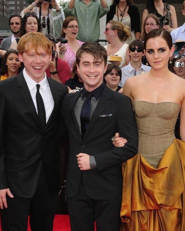 『ハリー・ポッターと死の秘宝 PART2』(11)のプレミアにて、ハリー、ロン、ハーマイオニーを演じきった3人