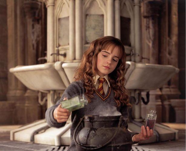 『ハリー・ポッターと秘密の部屋』より、ポリジュース薬を調合するハーマイオニー