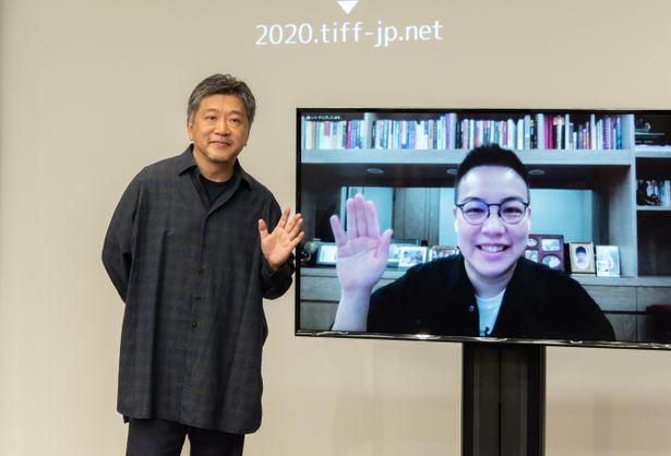 「アジア交流ラウンジ」で是枝裕和監督とホアン・シー監督がトーク!