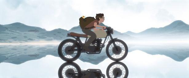 【写真を見る】オートバイに乗った少年の美しい冒険を描く(『Away』)