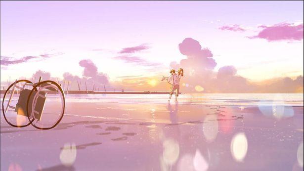 恒夫がジョゼを抱えて、波打ち際を歩く(コンセプトデザイン)
