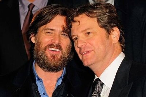 ジム・キャリーとコリン・ファース(右)