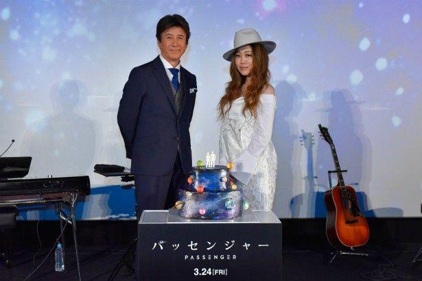 JUJUと草刈正雄が『パッセンジャー』のプレミアに登壇