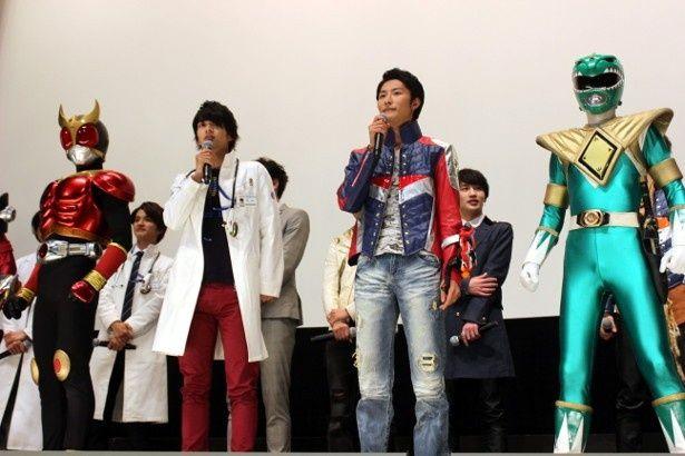 『仮面ライダー×スーパー戦隊 超スーパーヒーロー大戦』の初日舞台挨拶が開催