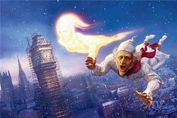 ジム・キャリーが1人7役の声を当てている『DISNEY'S クリスマス・キャロル』