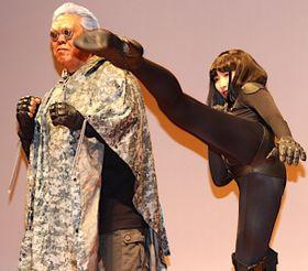 長州力、セクシー衣装に身を包んだ武田梨奈のキックは「すごいキレてる」