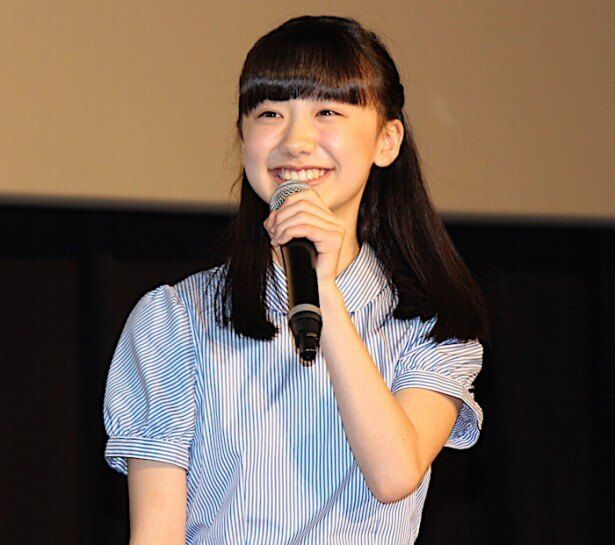 キュートな笑顔を見せた芦田愛菜