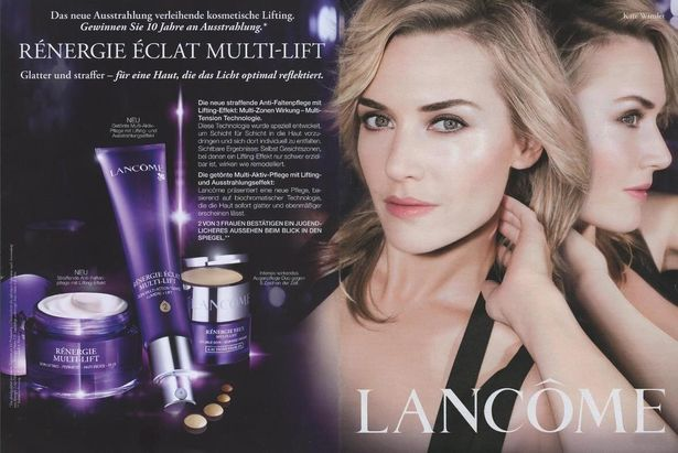 【写真を見る】ランコムの広告に登場したケイト・ウィンスレット