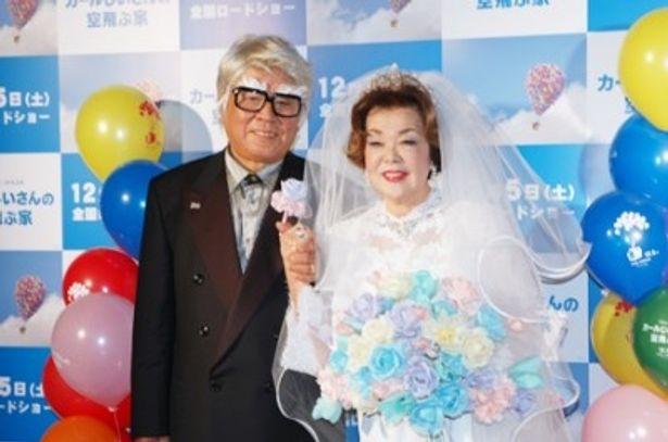 「ぜひ多くのご夫婦に見ていただきたいです」とアピールした野村克也前監督と沙知代夫人