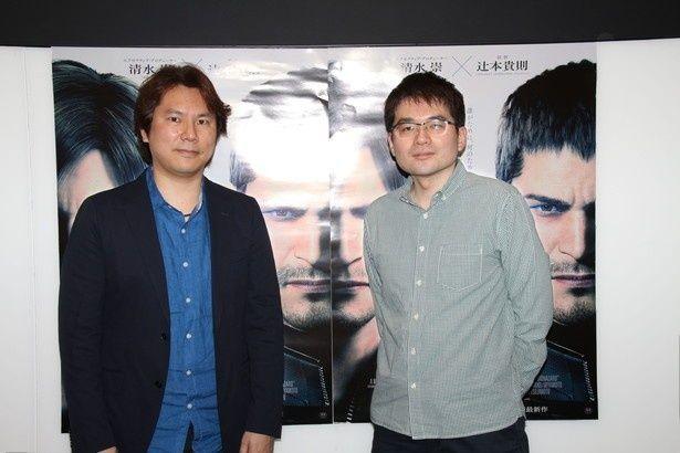 映画「バイオハザード:ヴェンデッタ」深見真(写真右)と小林裕幸(写真左)対談の後編