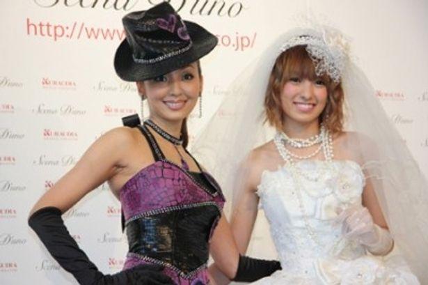 「Scena D'uno」の新作ドレス発表会に出席した神田うのと南明奈