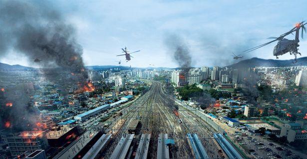 ⾼速鉄道の列車内てが未知のウィルスに侵され、乗客が凶暴化!