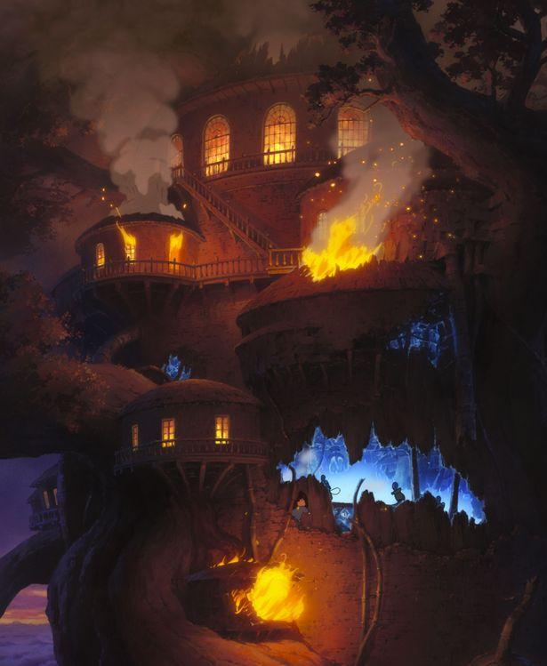 何やら不思議な雰囲気に包まれた謎のツリーハウス