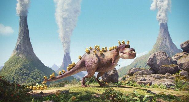 恐竜に乗るのもへっちゃら!(『ミニオンズ』)