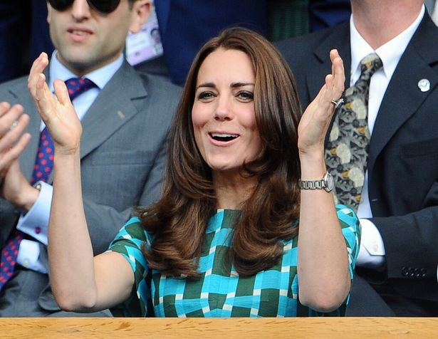 テニス観戦の際は、キャサリン妃も我を忘れるようだ