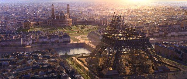 19世紀末の資料を基に建設中のエッフェル塔を再現