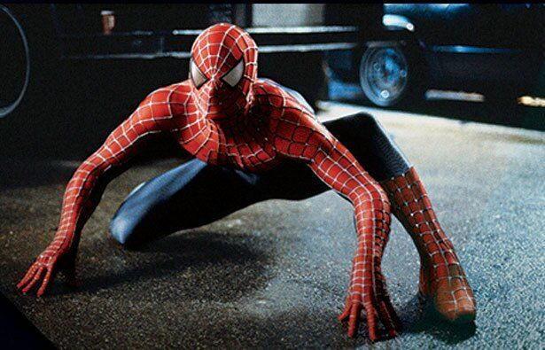 『スパイダーマン』の時のスーツ。デザインは主人公が考案