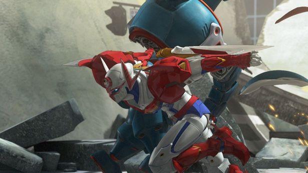 【写真を見る】南城二(声:櫻井孝宏)はサポートロボット・ペガスに搭載のシステムにより肉体強化されテッカマンに変身!