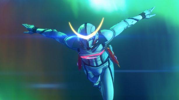 東鉄也(声:斉藤壮馬)は人類に反乱を起こしたロボット軍団と戦うため、自ら最新鋭アンドロイド、新造人間キャシャーンとなった