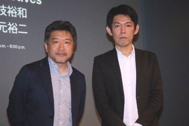 『三度目の殺人』の是枝裕和監督と人気脚本家・坂元裕二がトークショー