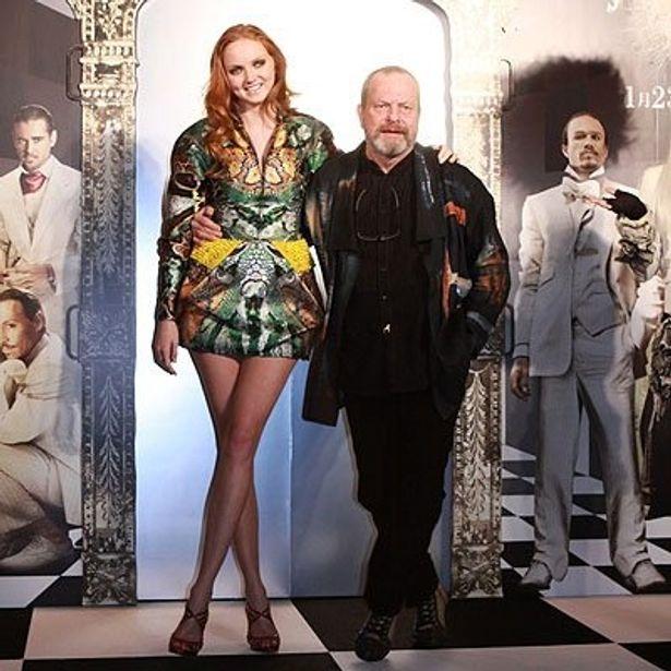 『Dr.パルナサスの鏡』ジャパンプレミアで登場したリリー・コールとテリー・ギリアム監督
