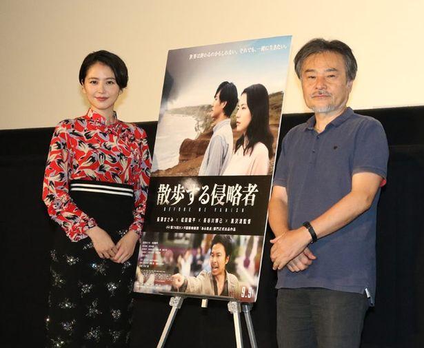 スペシャルトークイベントに登壇した長澤まさみと黒沢清監督