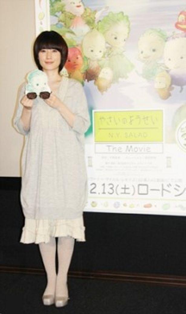 3Dのアニメ映画「やさいのようせい/N.Y.SALAD」のマスコミ向け試写会に原田知世が出席
