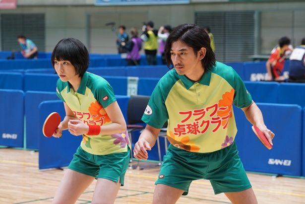【写真を見る】卓球のユニフォーム姿も良く似合う!(『ミックス。』)