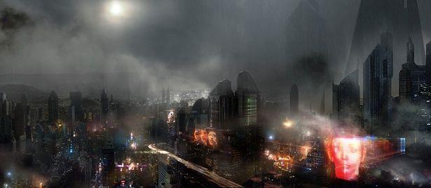 高層ビルがひしめき合う近未来。しかし、空気は汚染され、どこか終末感を漂わせている