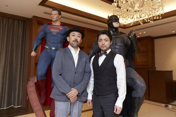 スーパーマン&バットマンと4ショット!