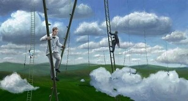 ジュード・ロウがハシゴで散歩するイメージも絵コンテどおり