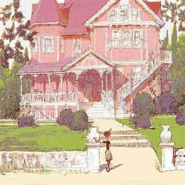 コララインが新しく引っ越した家「ピンクパレスアパート」の外観